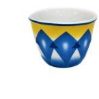 طقم فناجين قهوة تصميم غضار لون أزرق 12 قطعة