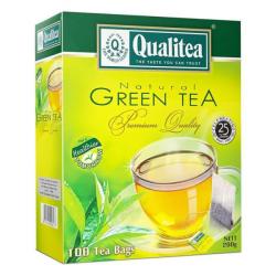 شاي كوالتي اخضر طبيعي Qualitea 2g x 100