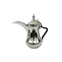دلة العساف البغدادية استانليس استيل ثقيل (دلة القهوة العربية ) لون فضي مقاس 40