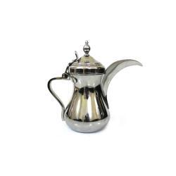 دلة قهوة بغدادية لون فضي مقاس 40