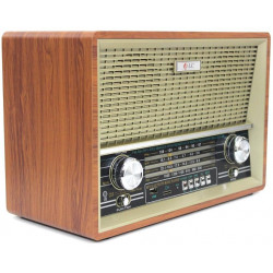 راديو قديم كبير مزود ببلوتوث ومدخل بطاقة ذاكرة اس دي، يو اس بي ومنفذ يو اكسDLC-32219B