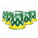 فناجيل غضار اخضر كبير مادة الصنع سيراميك مطلي غضار 6 حبات