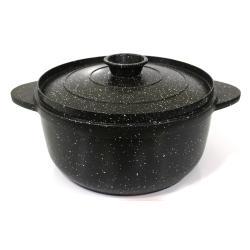 السنيدي قدر طبخ المونيوم مصبوب مع طلاء سيراميك اسود مقاس  20 سم