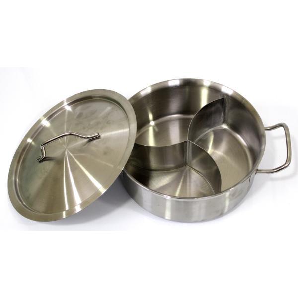 قدر طبخ مصنوع ستيال استيل ثقيل ثلاثي 4.5 لتر