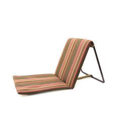 مسند ظهر كرسي ظهر كرسي رحلات قابل للطي بني مخطط احمر