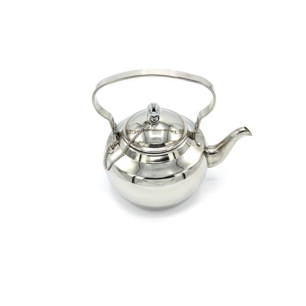 ابريق شاي شاهي ستيل مع صفايا الجبر 2  لتر