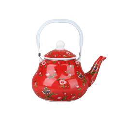 ابريق شاي نقشة تراثي احمر 1 لتر