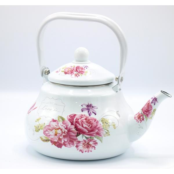 ابريق شاي نقشة ورد 2.5 لتر