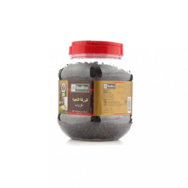 شاي كوالتي الورقة الذهبية كبير اوراق شاي سيلانية نقية  500 جرام Qualitea  مع ملعقة بالداخل مجانا