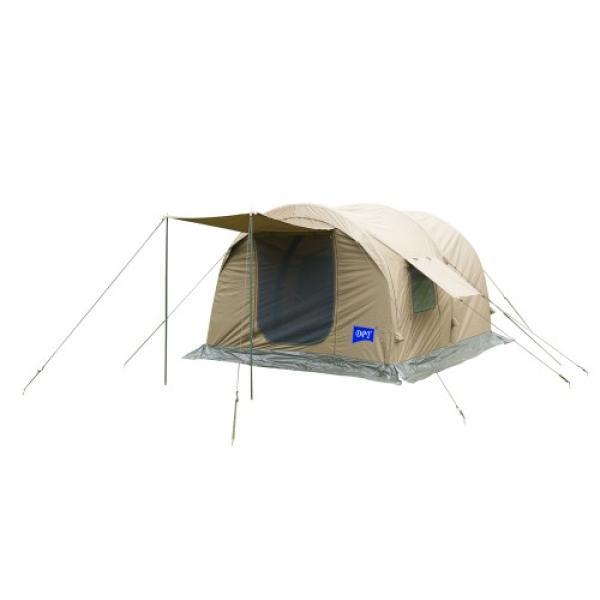 خيمة هوائية DPT قماش قطني كاكي غامق بمظلة باب مقاس 270 × 300 / 200 سم مع منفاخ يدوي + شنطة قماش DPTR-0063