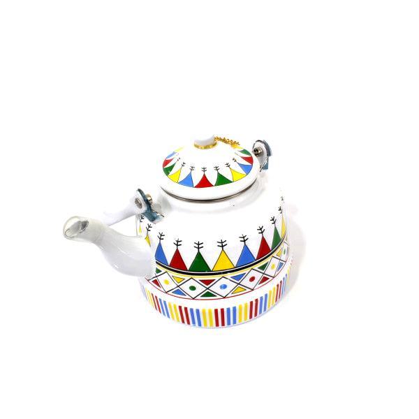 ابريق شاي شاهي نقش العسيري ابيض 1.7 لتر