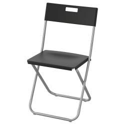 كرسي قابل للطي أسود ايكيا