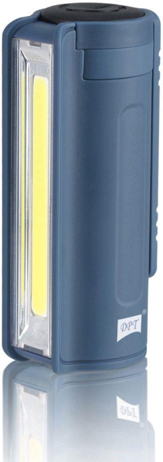 كشاف مخيمات DPT اضاءة LED شحن USB اسطواني 200 لومنيز مع مشبك علاقي ازرق DPL-0003