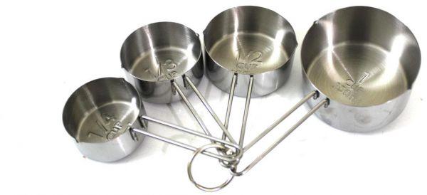 طقم مكيال فولاذ مقاوم للصدأ 4 قطع