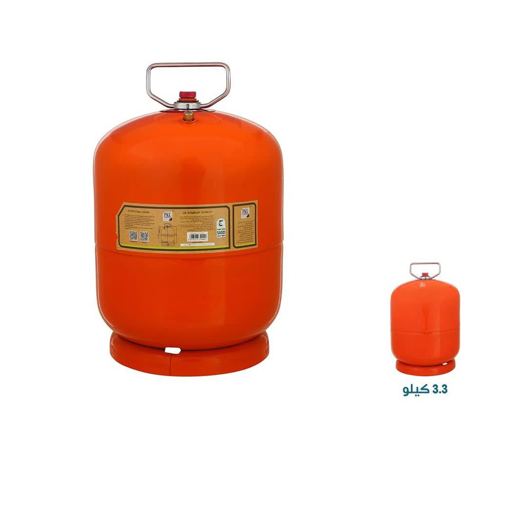 دبة غاز PKL ضد الانفجار سعة 3.3 لتر لون برتقالي
