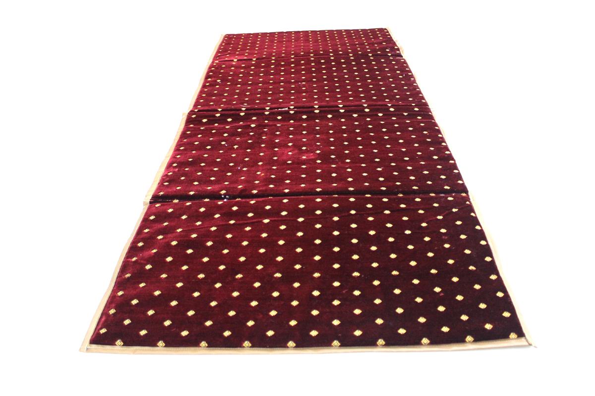 مدة مدات فرشة جلسات احمر منقط ومبطنة بالاسفنج مقاس 70 سم × 2 متر