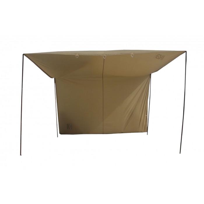 القاضي مظلة الشقردية بوليستر  كاكي 1.80 x 3.50 x 2.90 x مترر