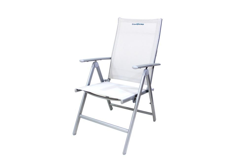 كرسي رحلات قابل للطي المنيوم ثقيل رصاصي بظهر متحرك حمولة 120 ك