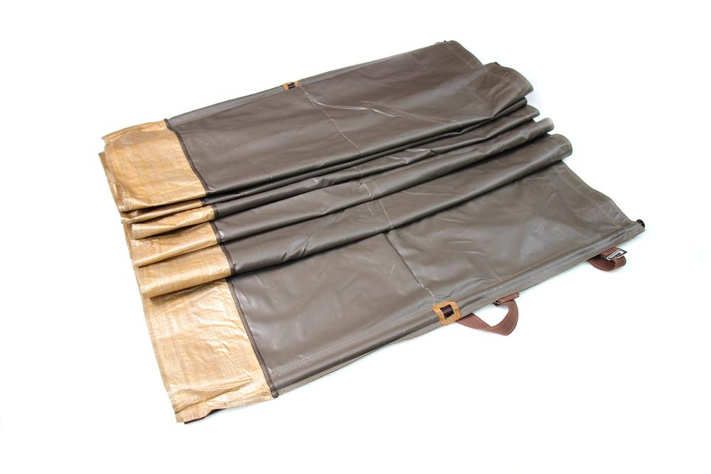 رواق رحلات مصفط قماش كوفي مع جراب 1.25 × 8 م