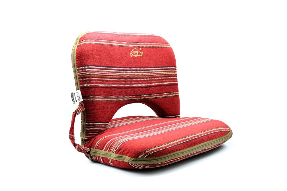 كرسي رحلات ارضي مبطن احمر مخطط