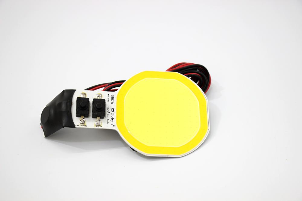 لمبه ليد اصفر اطراف برتقاليه COB OVEL LED 680 W
